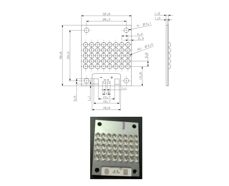 UV LED 31×19mm Module