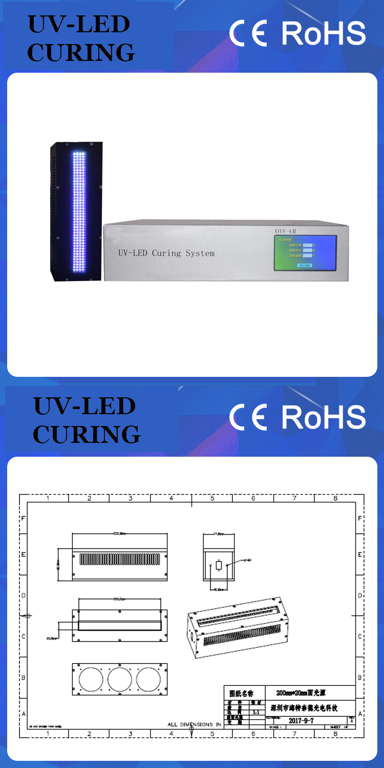High Power Customized 395nm LED UV Curing Lamp