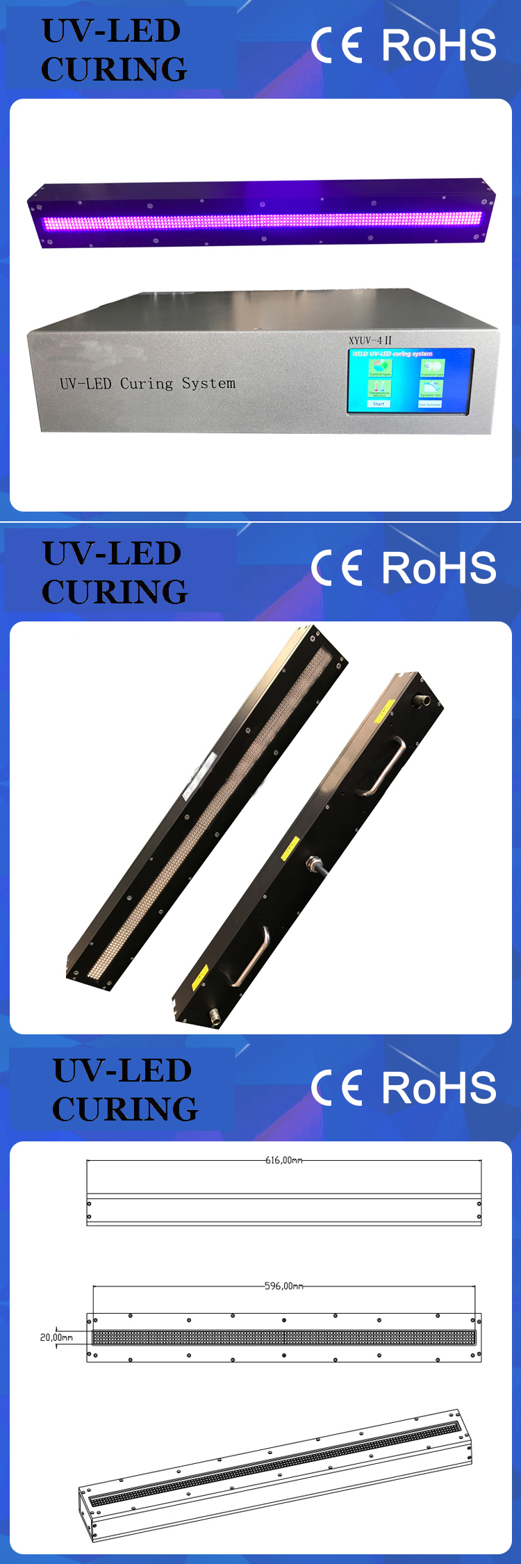 Water Cooling System UV LED Offset for Printing Machine